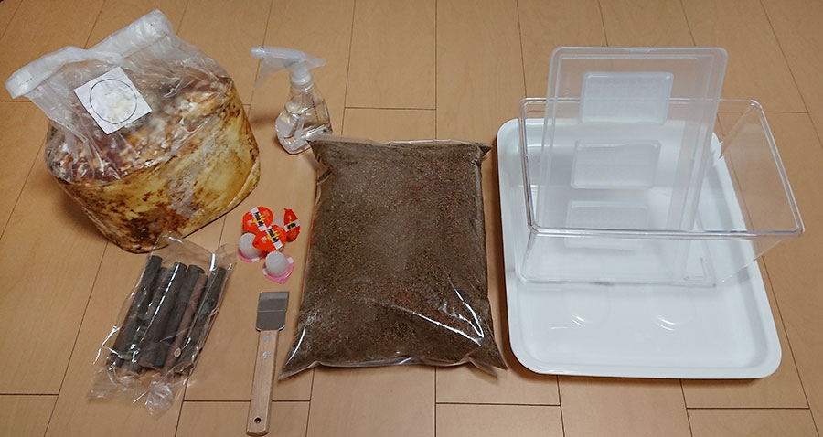 人工カワラ材を使った産卵セット方法